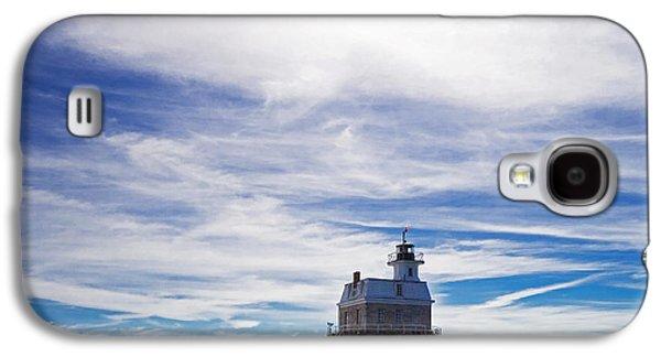 Ocean Art Photos Galaxy S4 Cases - Penfield Reef Lighthouse Fairfield Connecticut Galaxy S4 Case by Stephanie McDowell