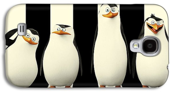 Animation Drawings Galaxy S4 Cases - Penguins of Madagascar Galaxy S4 Case by Movie Poster Prints
