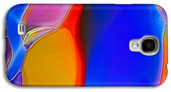 Blue Abstracts Glass Galaxy S4 Cases - Penguins Galaxy S4 Case by Omaste Witkowski