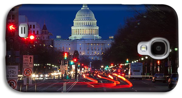 Streetlight Photographs Galaxy S4 Cases - Pennsylvania Avenue Galaxy S4 Case by Inge Johnsson