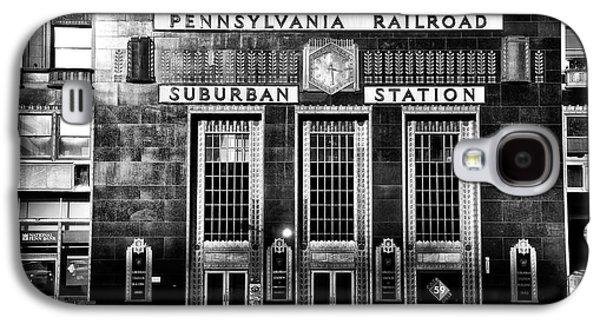 Suburban Digital Art Galaxy S4 Cases - Pennsylvania Railroad Suburban Station in Black and White Galaxy S4 Case by Bill Cannon
