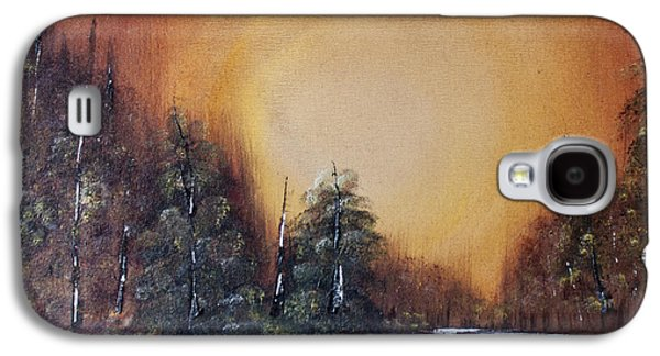 Bob Ross Paintings Galaxy S4 Cases - Pennsylvania Shenango Dawn in Oil Galaxy S4 Case by Janice Rae Pariza