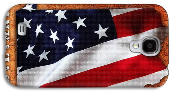 Map Galaxy S4 Cases - Pennsylvannia American Flag State Map Galaxy S4 Case by Marvin Blaine