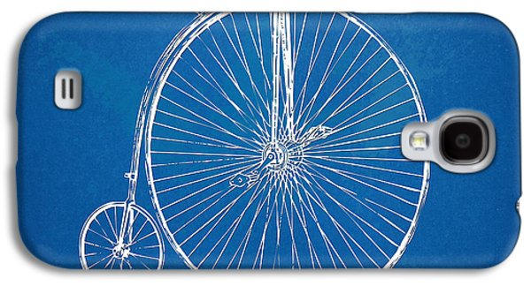 Penny-farthing 1867 High Wheeler Bicycle Blueprint Galaxy S4 Case by Nikki Marie Smith