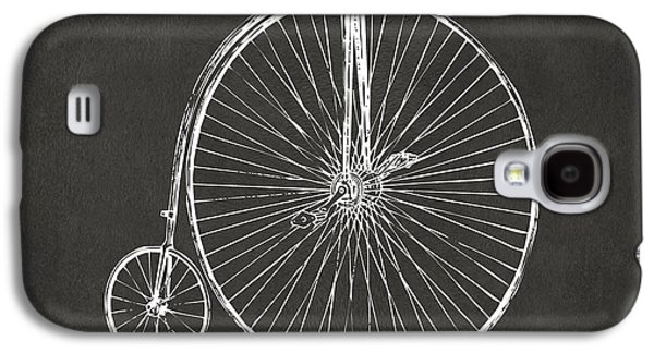 Penny-farthing 1867 High Wheeler Bicycle Patent - Gray Galaxy S4 Case by Nikki Marie Smith