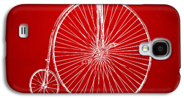 Penny-farthing 1867 High Wheeler Bicycle Patent Red Galaxy S4 Case by Nikki Marie Smith
