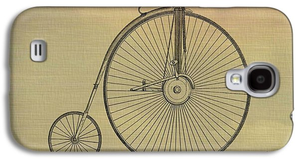 Transportation Mixed Media Galaxy S4 Cases - Penny Farthing Poster Galaxy S4 Case by Dan Sproul