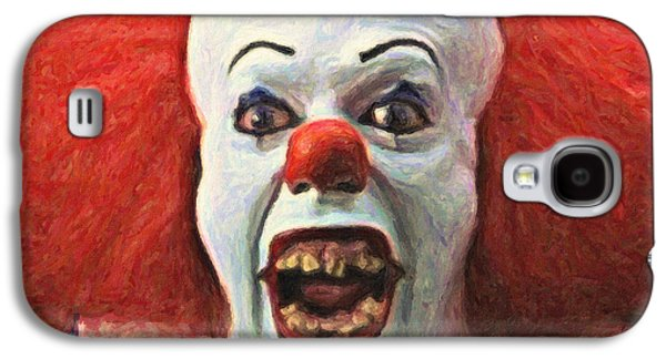 Creepy Paintings Galaxy S4 Cases - Pennywise the Clown Galaxy S4 Case by Taylan Soyturk
