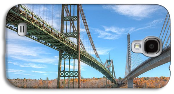 Island Stays Galaxy S4 Cases - Penobscot Narrows Bridges Galaxy S4 Case by Clarence Holmes