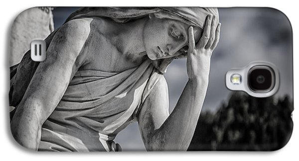 Statue Galaxy S4 Cases - Pensive Angel at Heredia Cemetery Galaxy S4 Case by Andres Leon