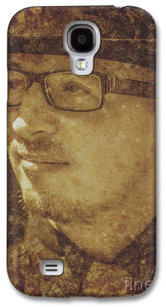 Contemplative Photographs Galaxy S4 Cases - Pensive man pondering in past times Galaxy S4 Case by Ryan Jorgensen