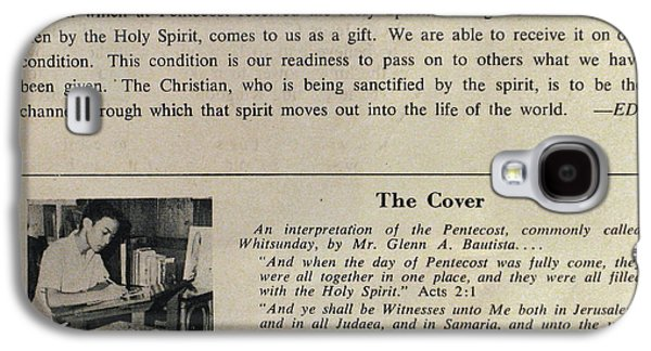 Pentecost Galaxy S4 Cases - Pentecost by Glenn 1965 Galaxy S4 Case by Glenn Bautista