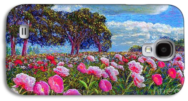 Field Paintings Galaxy S4 Cases - Peony Heaven Galaxy S4 Case by Jane Small