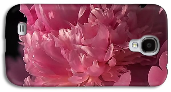 Square Format Galaxy S4 Cases - Peony Galaxy S4 Case by Rona Black