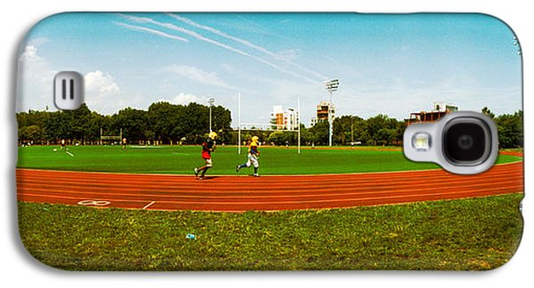 Jogging Galaxy S4 Cases - People Jogging In A Public Park Galaxy S4 Case by Panoramic Images