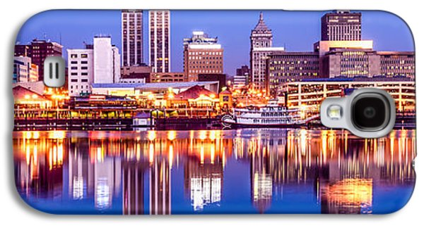 Business Galaxy S4 Cases - Peoria Skyline at Night Panorama Photo Galaxy S4 Case by Paul Velgos