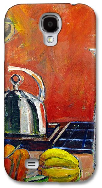 Pepper Paintings Galaxy S4 Cases - Pepper Lime Galaxy S4 Case by Charlie Spear
