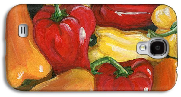 Pepper Paintings Galaxy S4 Cases - Peppers Galaxy S4 Case by Karyn Robinson