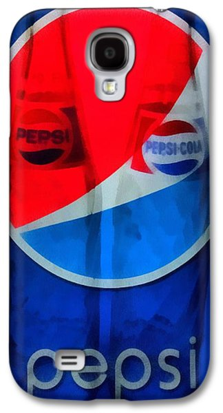 Red White And Blue Mixed Media Galaxy S4 Cases - Pepsi Cola Galaxy S4 Case by Dan Sproul
