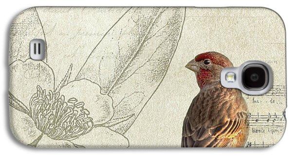 Birds Galaxy S4 Cases - Perched Galaxy S4 Case by Rebecca Cozart