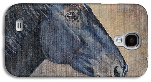 Woman Gift Galaxy S4 Cases - Percheron Hanoverian Portrait Galaxy S4 Case by Renee Forth-Fukumoto