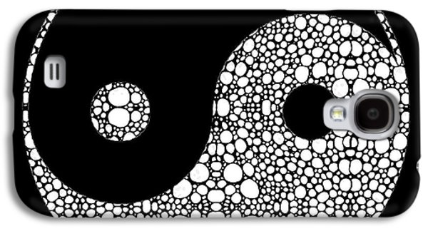 Yang Galaxy S4 Cases - Perfect Balance 2 - Yin and Yang Stone Rockd Art by Sharon Cummings Galaxy S4 Case by Sharon Cummings