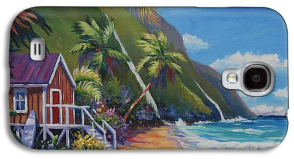Waterfalls Paintings Galaxy S4 Cases - Perfect Day Galaxy S4 Case by John Clark