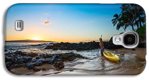 Water Reflections Galaxy S4 Cases - Perfect Ending - beautiful and secluded Secret Beach in Maui Galaxy S4 Case by Jamie Pham