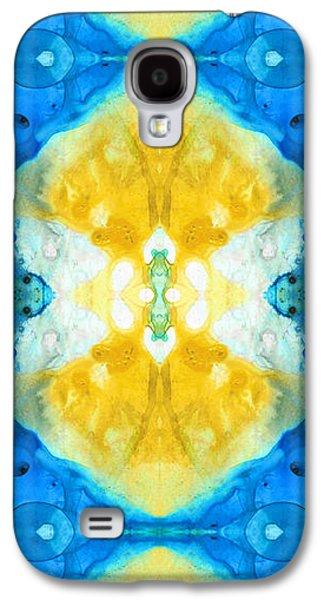 Abstract Movement Mixed Media Galaxy S4 Cases - Perfect Harmony - Spiritual Art By Sharon Cummings Galaxy S4 Case by Sharon Cummings