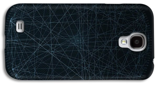 Einstein Drawings Galaxy S4 Cases - Perfect Square Galaxy S4 Case by Jason Padgett