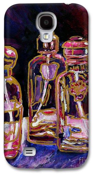 Still Life Sculptures Galaxy S4 Cases - Perfume Bottles Galaxy S4 Case by Priti Lathia