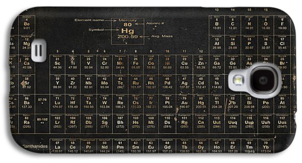 Old Galaxy S4 Cases - Periodic Table of the Elements Galaxy S4 Case by Grace Pullen
