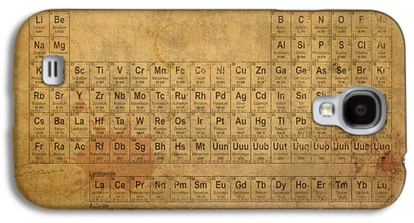 Vintage Galaxy S4 Cases - Periodic Table of the Elements Galaxy S4 Case by Design Turnpike