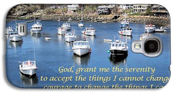 Boats In Harbor Galaxy S4 Cases - Perkins Cove Serenity Galaxy S4 Case by Patricia Urato