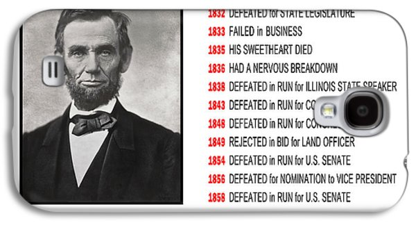 Autographed Galaxy S4 Cases - PERSEVERANCE of ABRAHAM LINCOLN Galaxy S4 Case by Daniel Hagerman