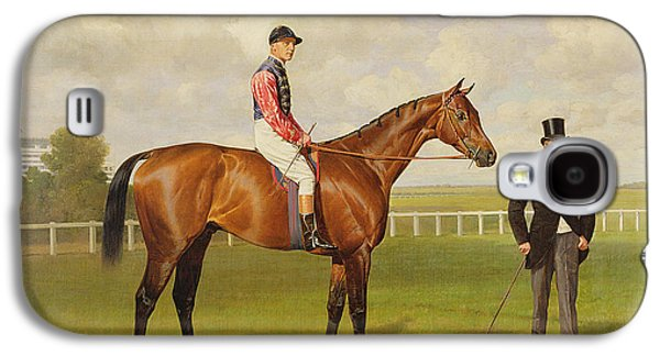 Horse Racing Galaxy S4 Cases - Persimmon Winner of the 1896 Derby Galaxy S4 Case by Emil Adam