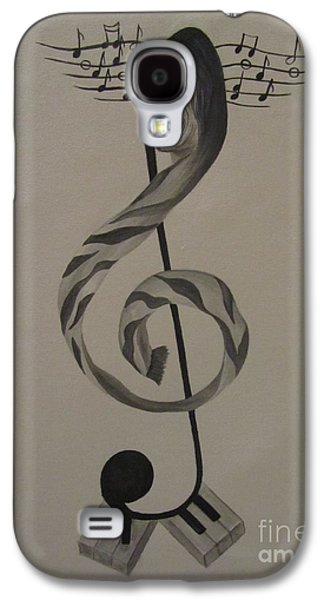 Steven Tyler Paintings Galaxy S4 Cases - Personification Of Music Galaxy S4 Case by Jeepee Aero