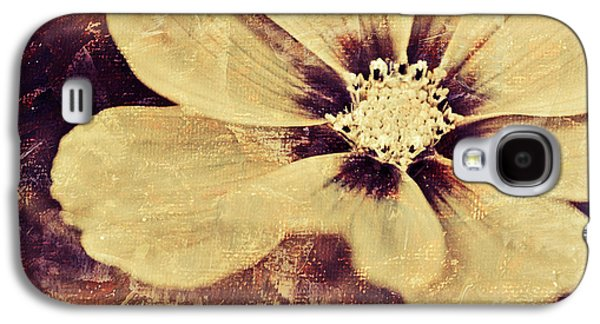 Flora Mixed Media Galaxy S4 Cases - Petaline - t37d03a3 Galaxy S4 Case by Variance Collections