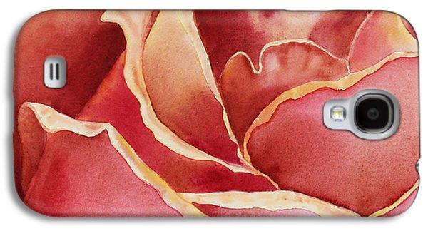 Close Up Paintings Galaxy S4 Cases - Petals Petals I Galaxy S4 Case by Irina Sztukowski