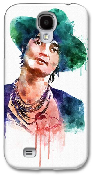 Tattoo Digital Galaxy S4 Cases - Pete Doherty watercolor  Galaxy S4 Case by Marian Voicu