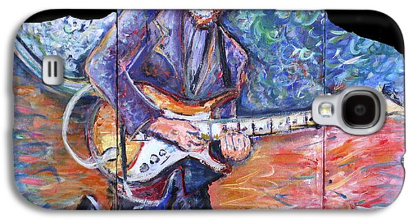 Keith Richards Paintings Galaxy S4 Cases - Peter Parcek Plays The Blues Galaxy S4 Case by Jason Gluskin