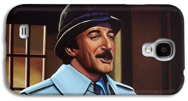 Globe Paintings Galaxy S4 Cases - Peter Sellers as inspector Clouseau  Galaxy S4 Case by Paul Meijering
