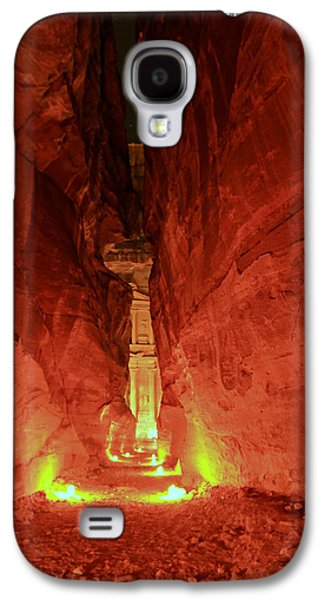 Nabatean Galaxy S4 Cases - Petra Night Journey Galaxy S4 Case by Stephen Stookey