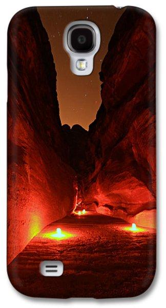 Nabatean Galaxy S4 Cases - Petra Night Walk Galaxy S4 Case by Stephen Stookey