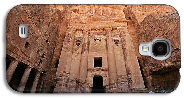 Nabatean Galaxy S4 Cases - Petra Tomb Galaxy S4 Case by Stephen Stookey