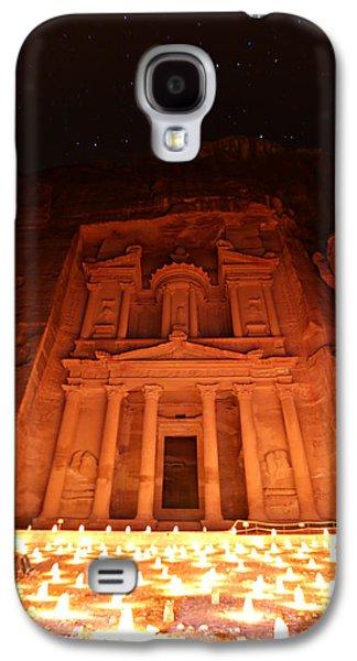 Nabatean Galaxy S4 Cases - Petra Treasury at Night Galaxy S4 Case by Stephen Stookey