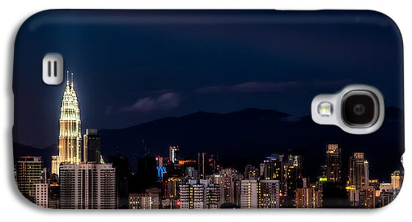 City Lights Galaxy S4 Cases - Petronas Lights Galaxy S4 Case by Adrian Evans