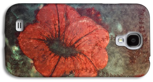 Creative Manipulation Galaxy S4 Cases - Petunia Galaxy S4 Case by Jutta Maria Pusl