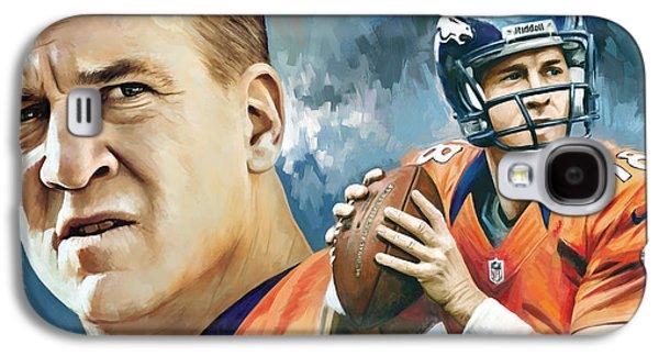 Peyton Manning Artwork Galaxy S4 Case by Sheraz A