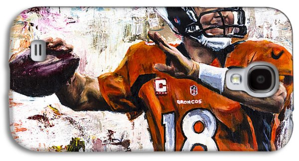 Pro Football Galaxy S4 Cases - Peyton Manning Galaxy S4 Case by Mark Courage
